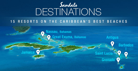 Sandals, All Inclusive, caribbean