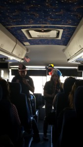 Playing games on the bus, Adventure by Disney Guides  - Southern Cal