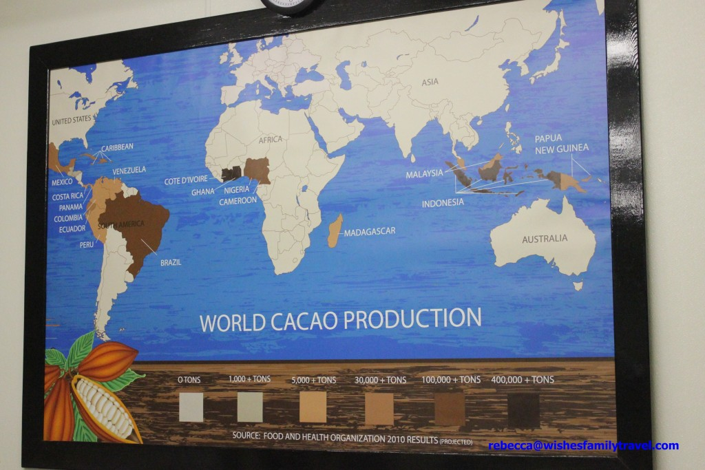 Map of World Cacao Production