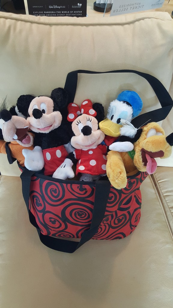 Disney World Tote with the FAB 5 Plush