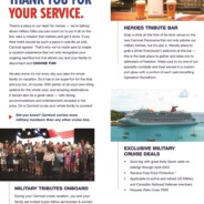 Exclusive Military Cruise Deals When You Sail With Carnival Cruise Line Through April 2022
