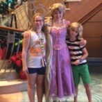 Princess Gathering in a Disney Cruise