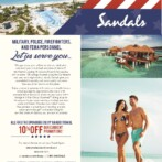 All First Responders Enjoy an Additional 10% Off at Sandals and Beaches Resorts