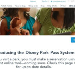 Introducing the Disney Park Pass Reservation System!